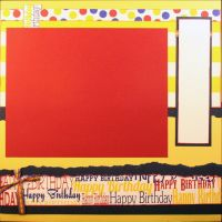 T2S - 61465 12x12 Page Kit- Birthday Banner