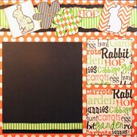 T2S - 61471 12x12 Page Kit- Easter Hop