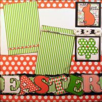 T2S - 61473 12x12 Page Kit- Easter Rabbit 2