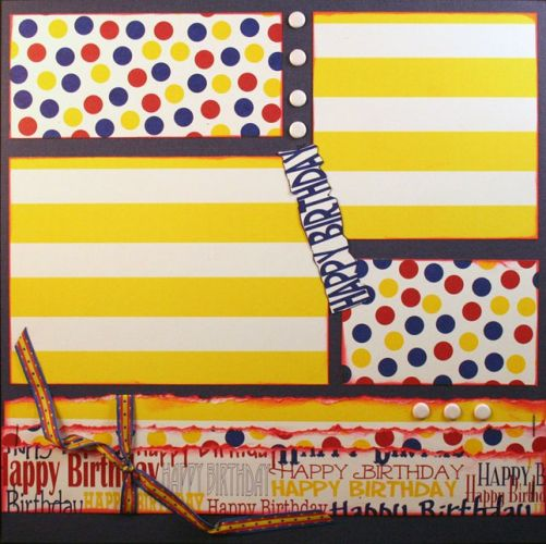 T2S - 61481 12x12 Page Kit- Happy Birthday 1