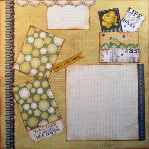 T2S - 61486 12x12 Page Kit- Sweet Like Honey