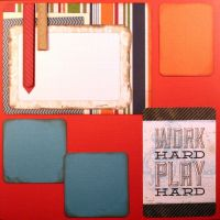 T2S - 61488-12x12 Page Kit- Work Hard Play Hard
