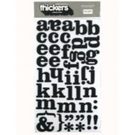 Thickers FOAM letter stickers. Cream Soda - Black