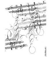 La Blanche - Stamp - Music Notes