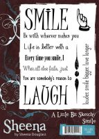 Crafter's Companion - Sheena Sketchy Stamps - Smile